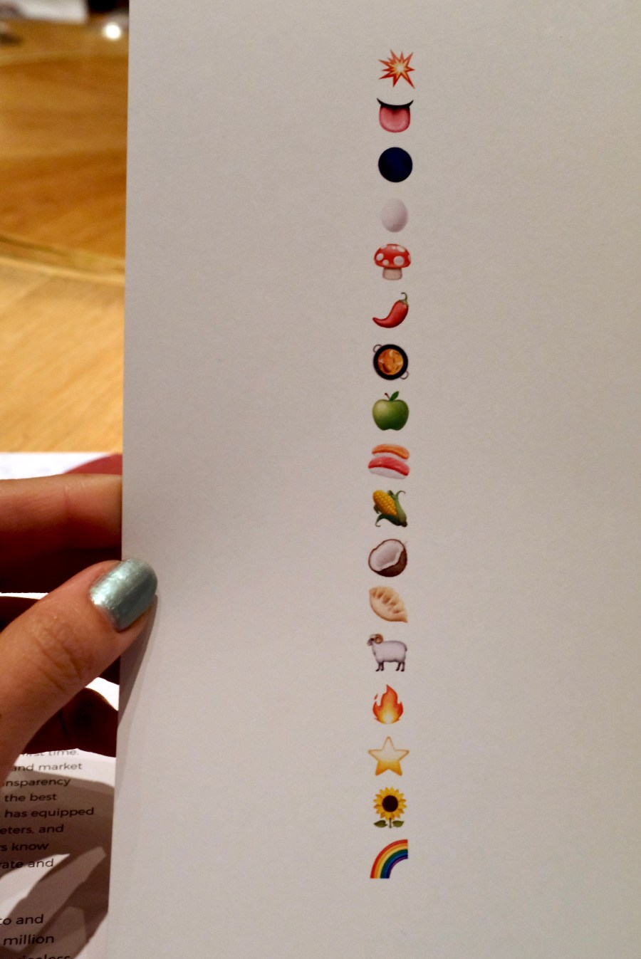 Gaggan at Eight Tables - Emoji Menu