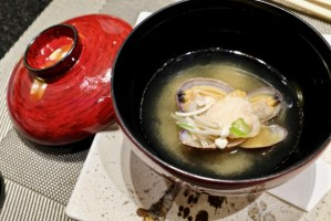 Kame Omakase - Clam Miso Soup with Black Cod