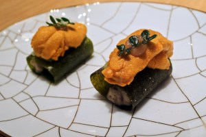 Gaggan at Eight Tables - Uni Green Apple
