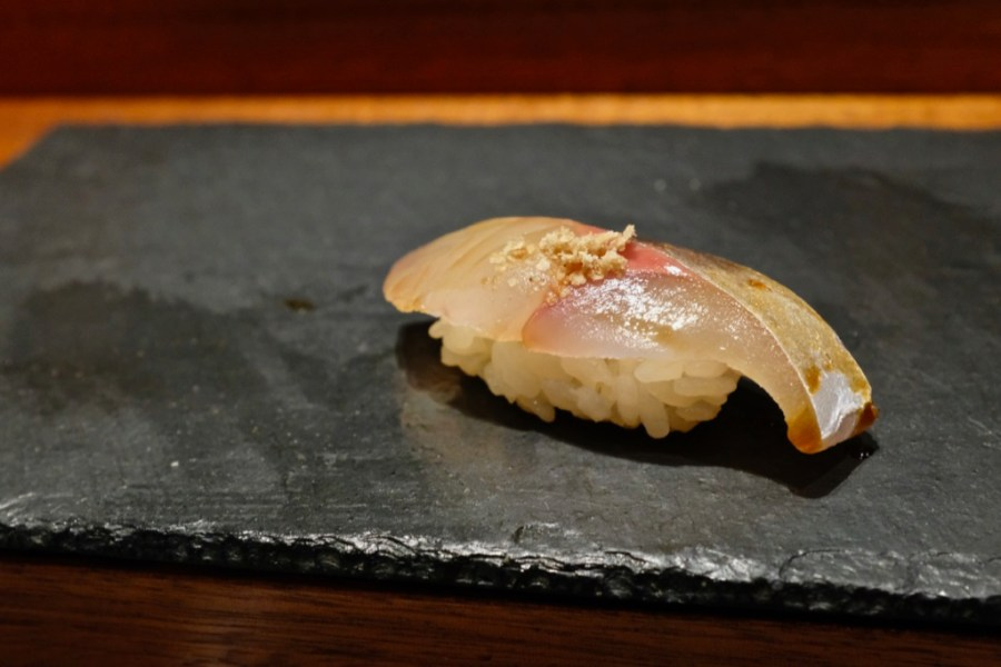 Kame Omakase - Mackerel, ground sesame