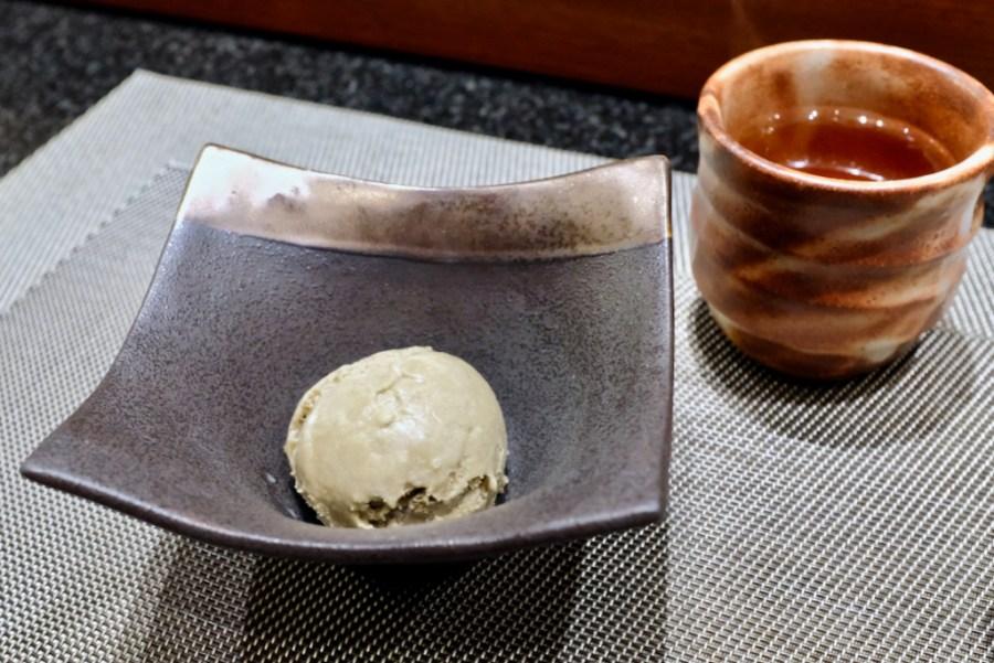 Kame Omakase - Hojicha (Roasted Green Tea) Ice Cream with Cup of Hojicha