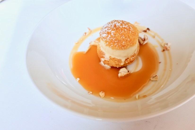 Arpege - Hay Ice Cream, choux pastry, honey, candied almond