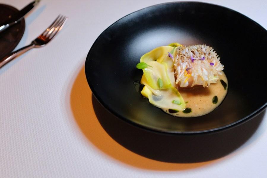 Quince SF - Tilefish, Black Garlic, Summer Squash, and Zucchini