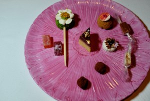 Quince SF - Mignardise Cart selections