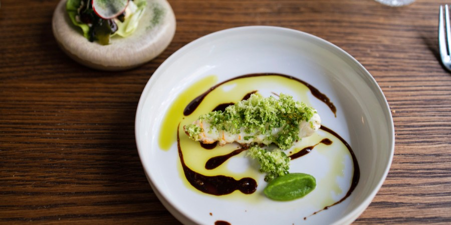 Daalder - Langoustine, imperial caviar, broccoli, nori, yuzu, onion tandoori sauce