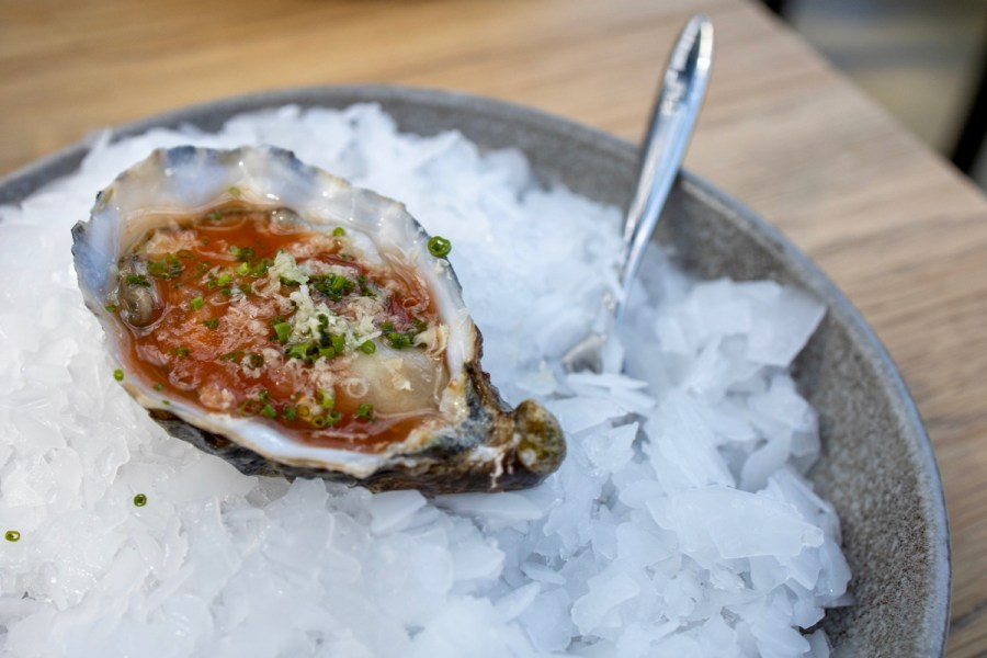 De Kas - Raw oyster, Bloody Mary vinaigrette