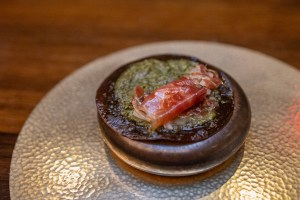 Benu - From the oak, acorn, black truffle, iberico ham