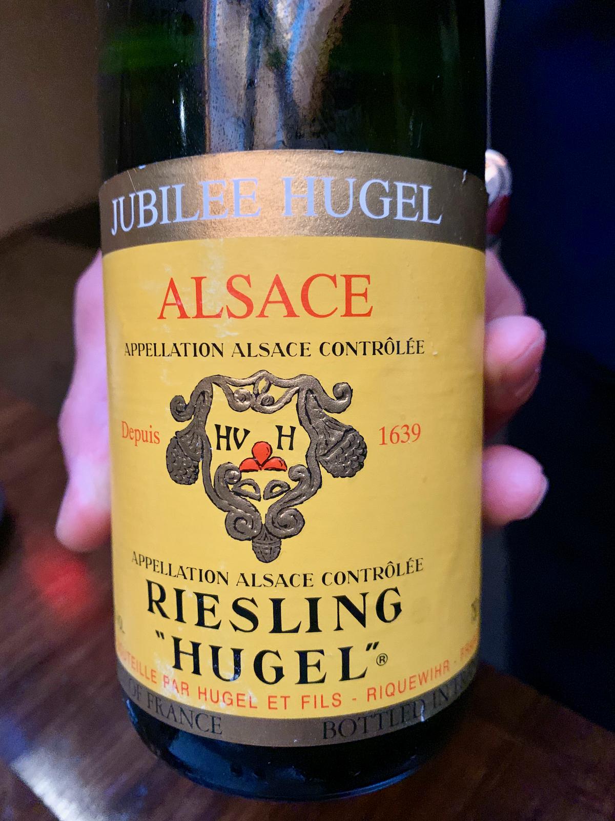 Benu - Hugel, Jubilee Riesling 2004, Alsace, France