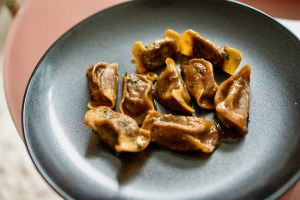 Trattoria Bruno SF Pop Up - Casoncelli - Fresh pasta stuffed with roasted wagyu, glazed in a beef and butter sauce