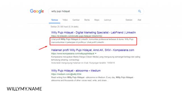 contoh meta description untuk artikel seo pada hasil pencarian google - mengenal seo