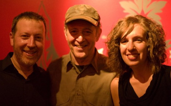 Composer Steve Reich, center, with Signal's co-founders Brad Lubman and Lauren Radnofsky. (Photo courtesy of Todd Reynolds)