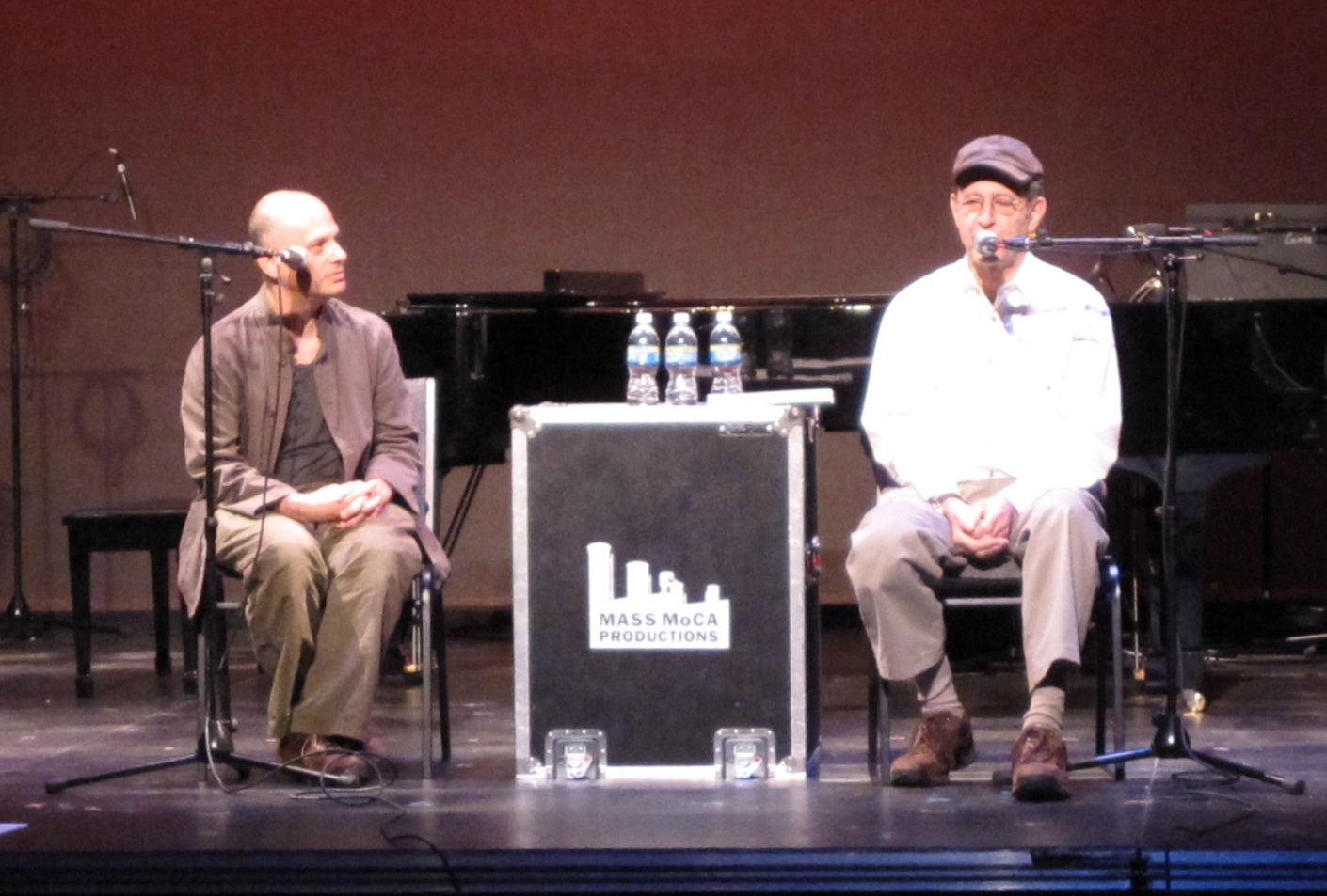 Composers David Lang and Steve Reich at MASS MoCA on Saturday, July 25. (Copyright 2009, Steven P. Marsh)