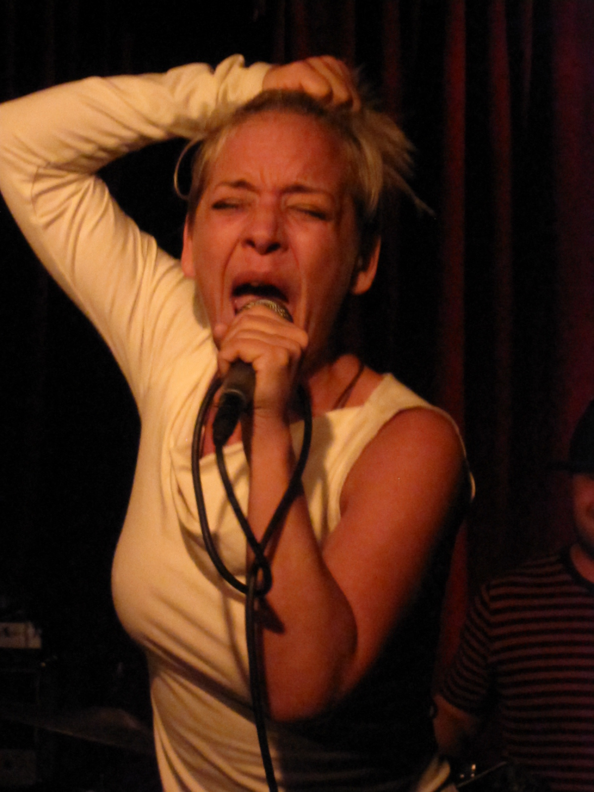 The Choke's singer Cameron Eve threatened to launch off the stage.