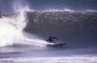 Jupa Soler. Mundaka 90s. Foto Willy Uribe