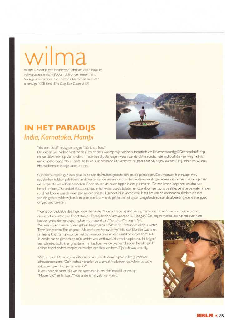 COLUMN IN DE HRLM-STADSGLOSSY NO 41