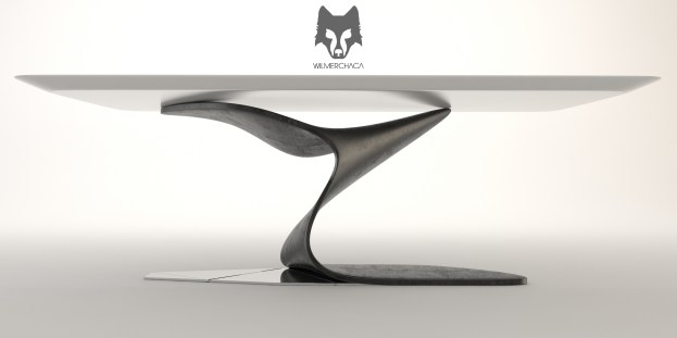 Dining Table: Swan Song Designer: Wilmer Chaca © All rights reserved