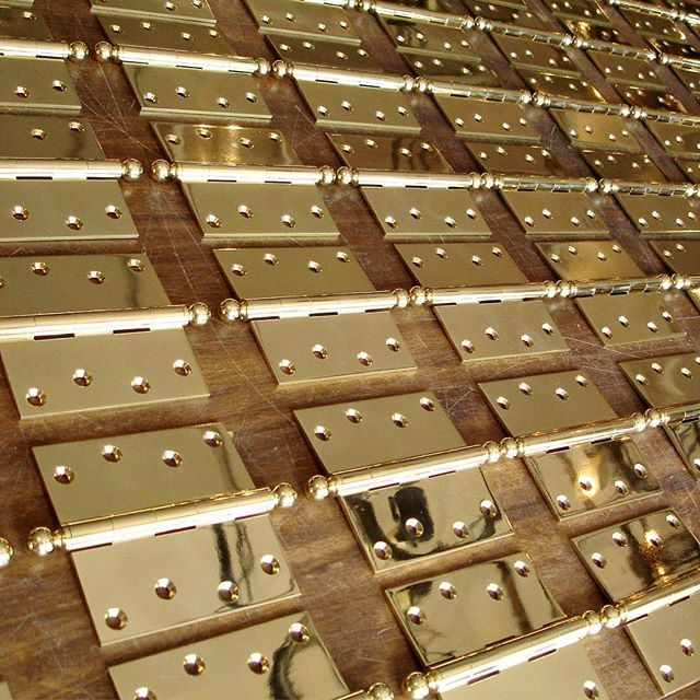 unlacquered brass hinges