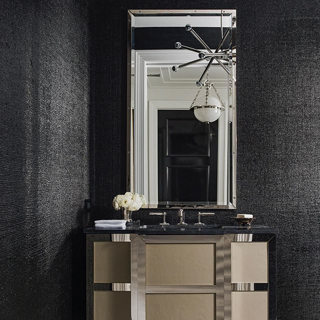 polished nickel vanity thanks @meganwintersdesign