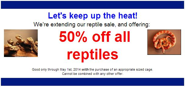 Reptile Sale April 2014