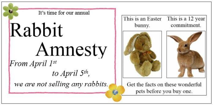 Rabbit amnesty 2015 FB post