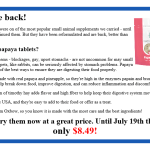 The best small animal supplement is BACK!