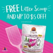 Free litter scoop and $5 off
