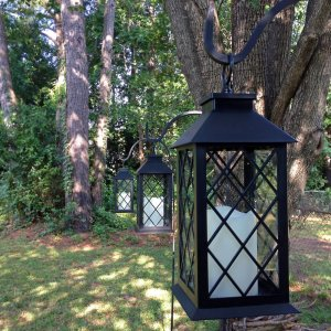 Candle lit lantern rentals for events