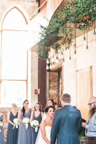 custom design lighting over ceremony at Brooklyn Arts Center