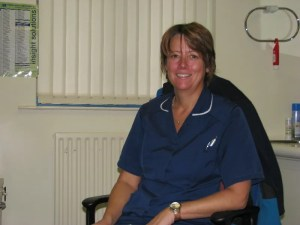 Sister Jane Gaskell works at Wilmslow Health Centre