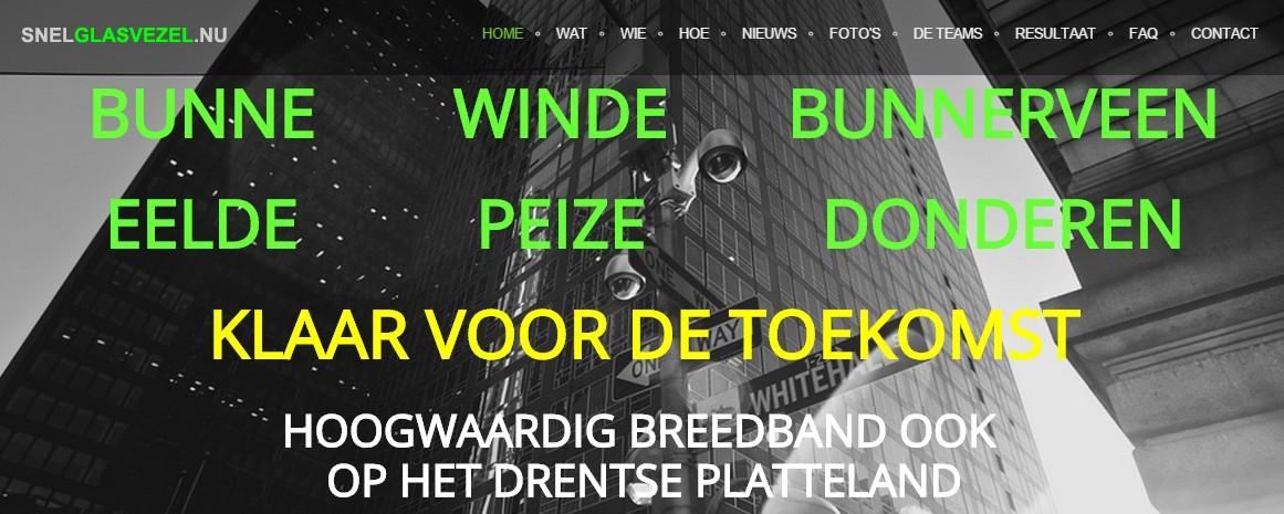 Bunne, Bunnerveen, Donderen, Eelde, Winde, Peize (noordenveld) bundelen krachten voor breedband