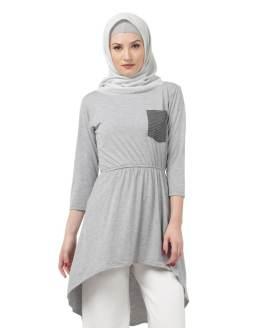 Java Seven Atasan Kasual Wanita Abu Cotton ISL 217
