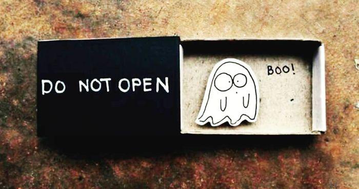 Artist Creates Little Matchbox Greeting Cards With Hidden Messages