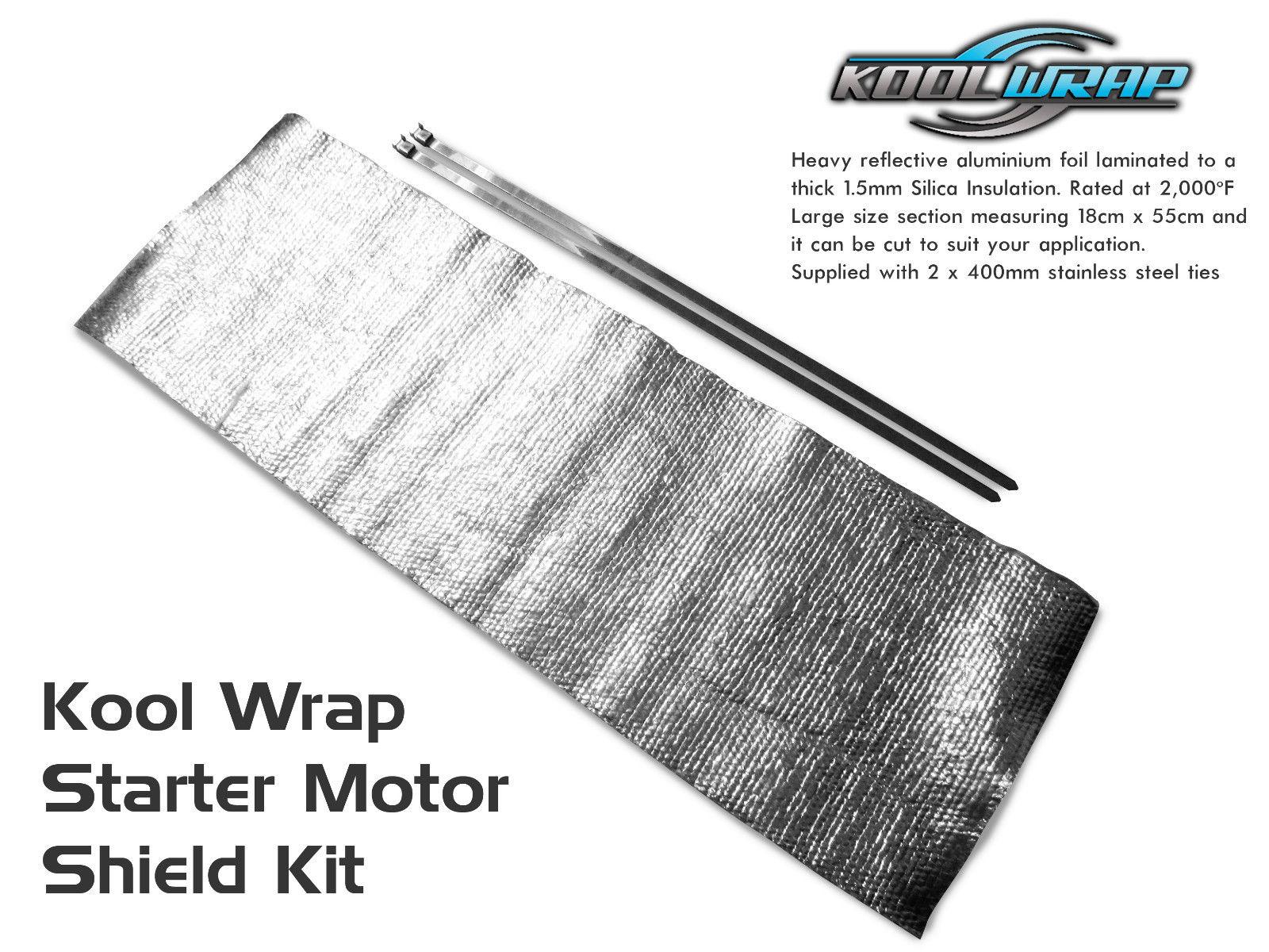 Holden V8 308 Starter Motor Heat Shield Blanket Insulating