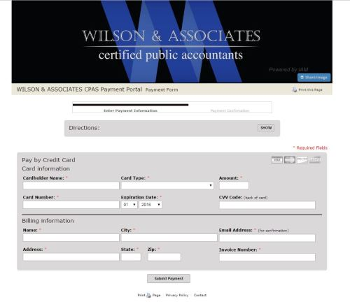Online Payments | Wilson & Associates
