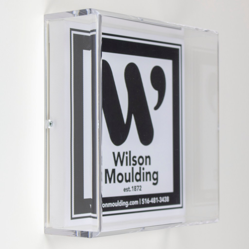 Rounded Acrylic Box- Wilson Moulding