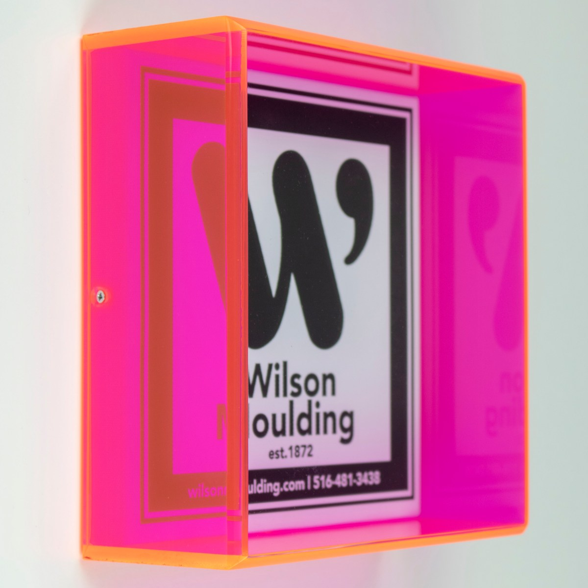 fluorescent sided acrylic box - Wilson Moulding
