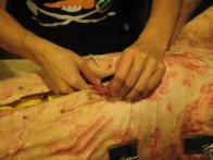 sewing shut the cavity