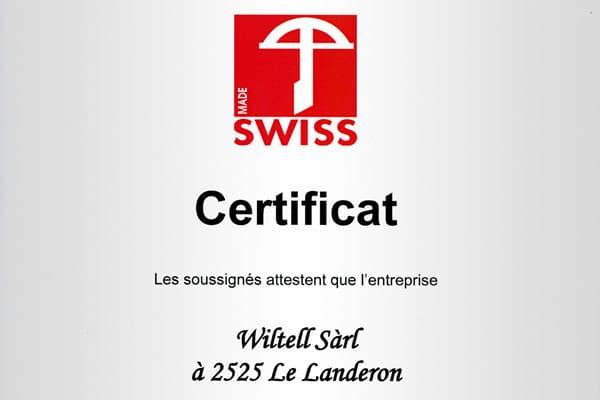 Preview Certificat Swiss