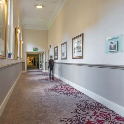 Beaumont Estate Corridor Bespoke Wilton Carpet Design
