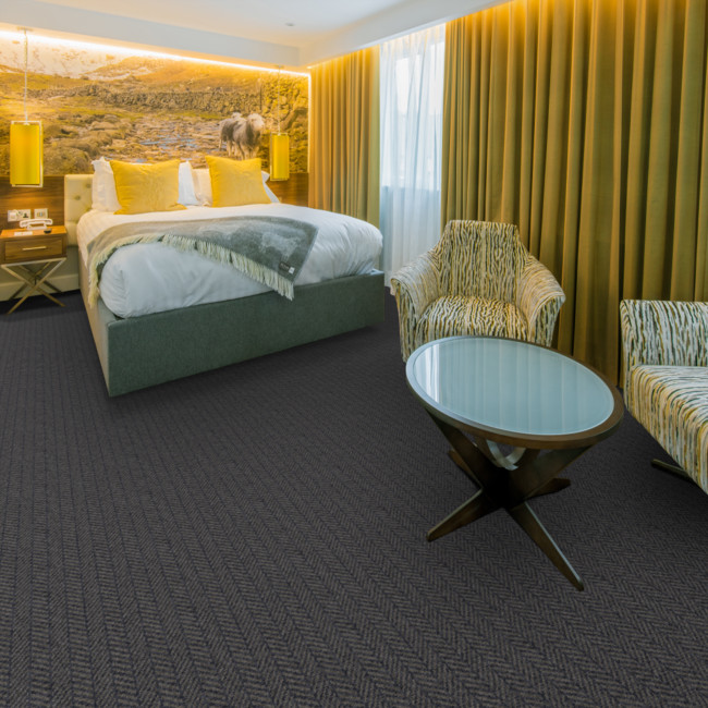 Berwick Carham Herringbone Tufted Carpet from Wilton Carpets