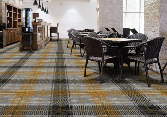 Nova Scotia Tartan Axminster Carpet in a Room