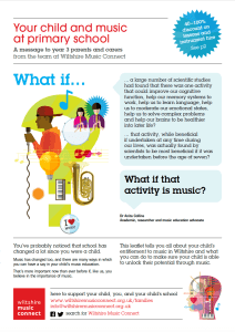 Parents yr 3 - Importance of music