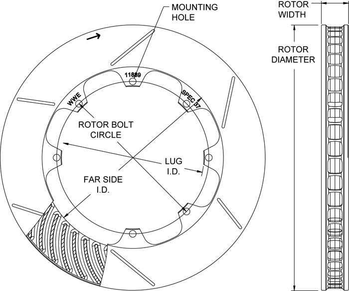 Rotor No: 160-11839-b