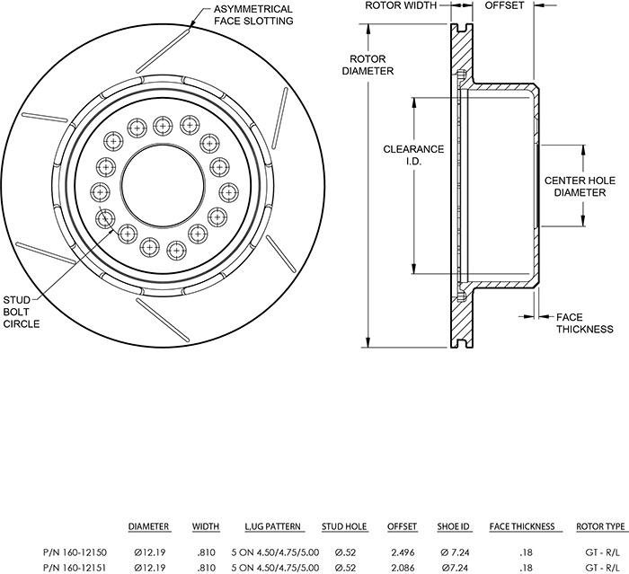 Rotor No: 160-12151