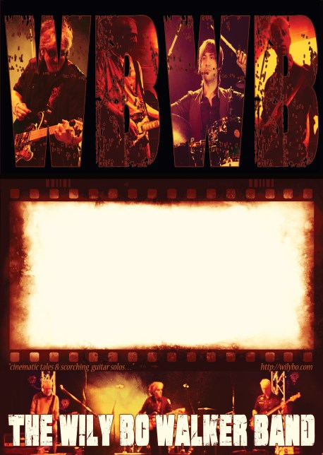 The Wily Bo Walker Band A4 Poster © Wily Bo Walker. All Rights Reserved
