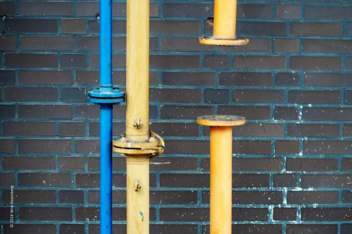 pijpen (blauw en geel), Zollverein Essen