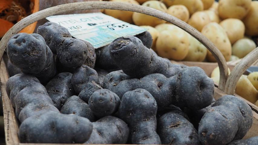 zwarte aardappel markt