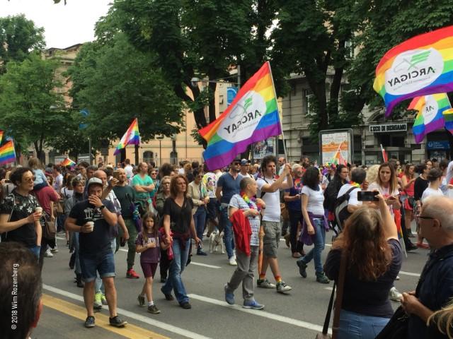 eerste gaypride Bergamo