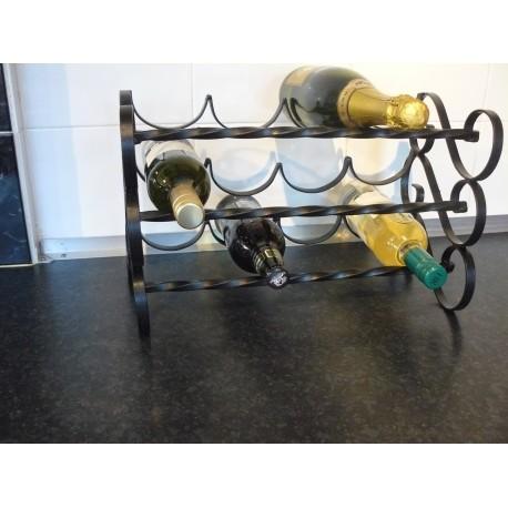 wine rack 12 bottle metal wrought iron