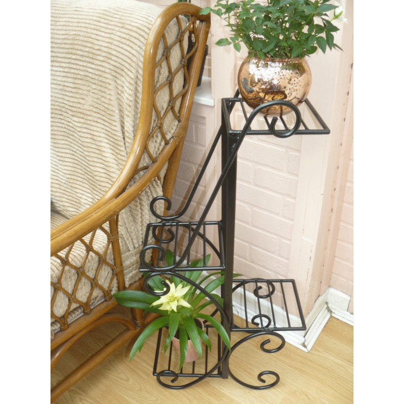 Plant pot / flower pot stand wrought iron plant rack / display on Iron Stand Ideas  id=99724